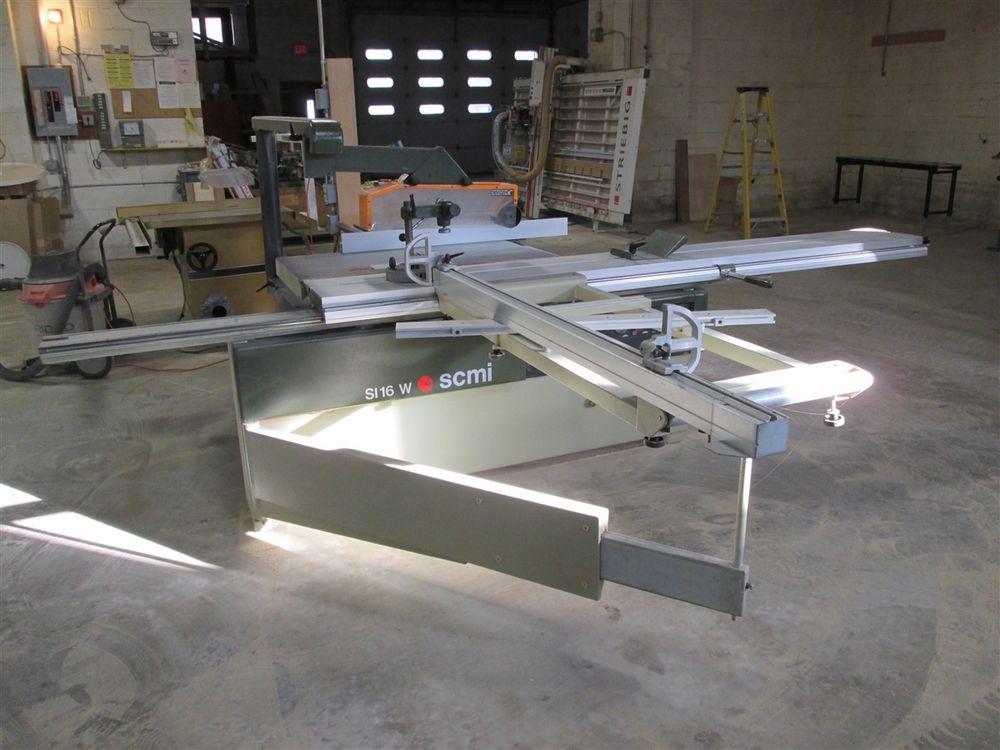 Scmi Model Si 16 W Sliding Table Saw With Scoring Blade