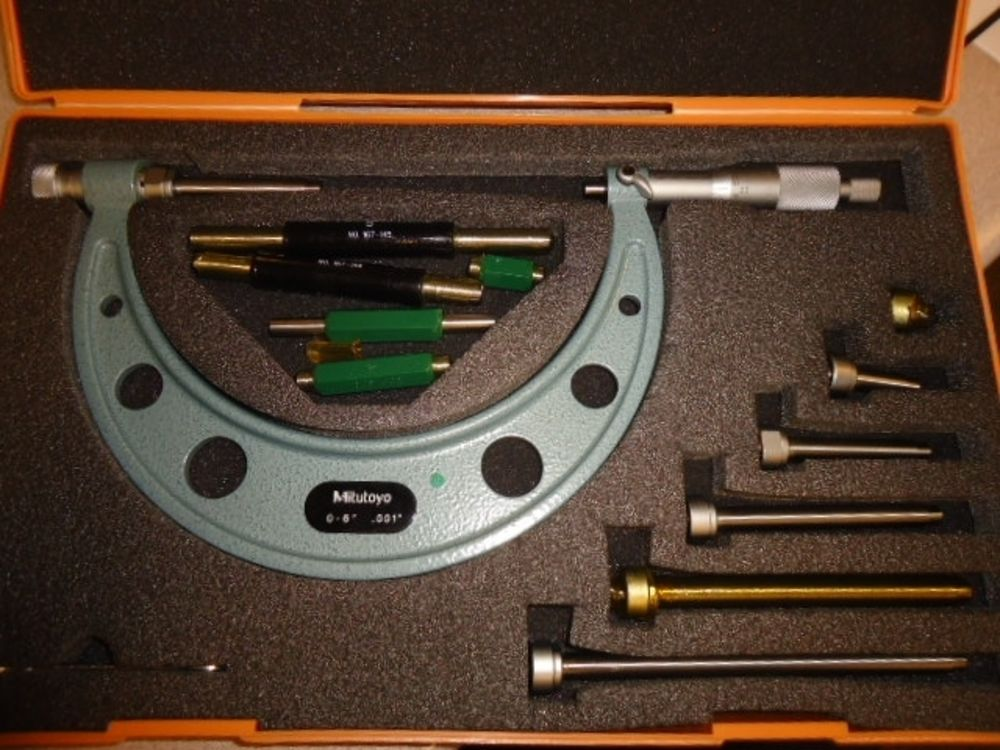 Mitutoyo Model 104 137 0 6 Quot 001 Micrometer Set 2 Units