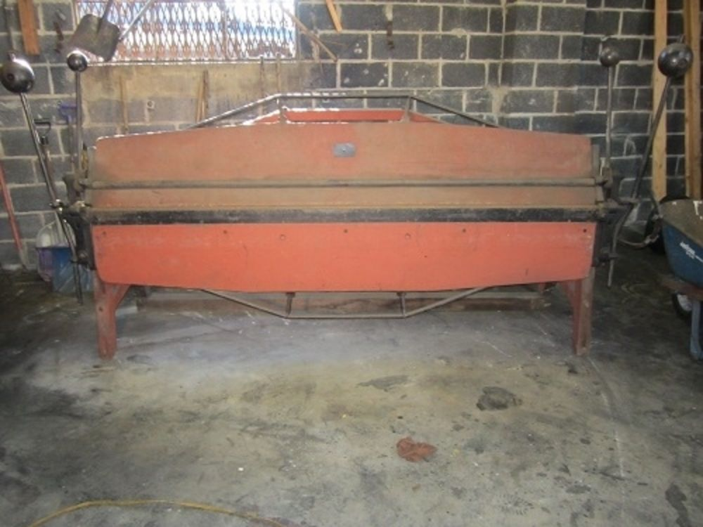 Double Truss Cornice 8 Sheet Metal Brake Vintage 1893