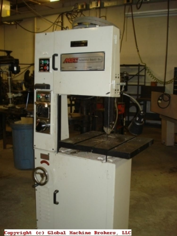 USED MSC VERTICAL BAND SAW - Vectrax Brand