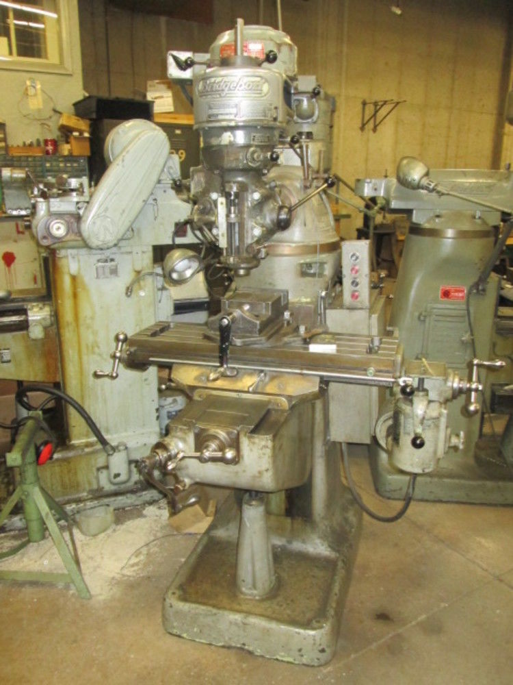 Bridgeport 32 Quot X 9 Quot Table 1hp 220v 3ph Miller W Tablefeed