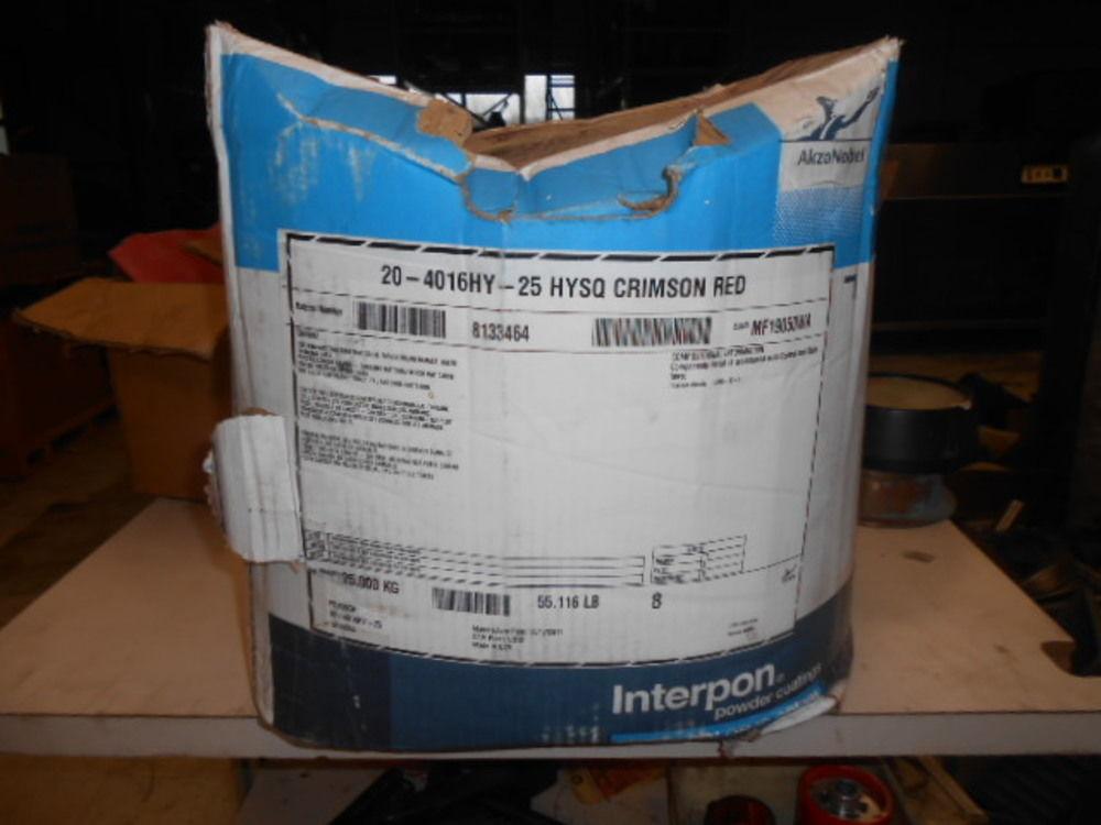 25kg Interpon Powder Coating 20 4016hy 25 Hysq Crimson Red