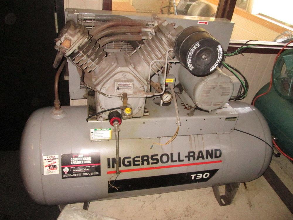 Ingersoll Rand T30 Air Compressor, Model 2545E10, 120 Gallon, 10HP