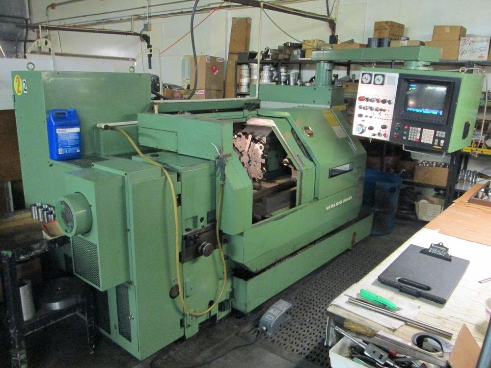 Hitachi Seiki HT20 CNC Lathe 10 Tool Turret W/Fanuc 10TE-F