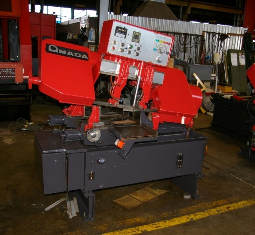 amada ha 250w 10 x 10 250 fpm automatic horizontal band saw new 89 rh globalmachinebrokers com