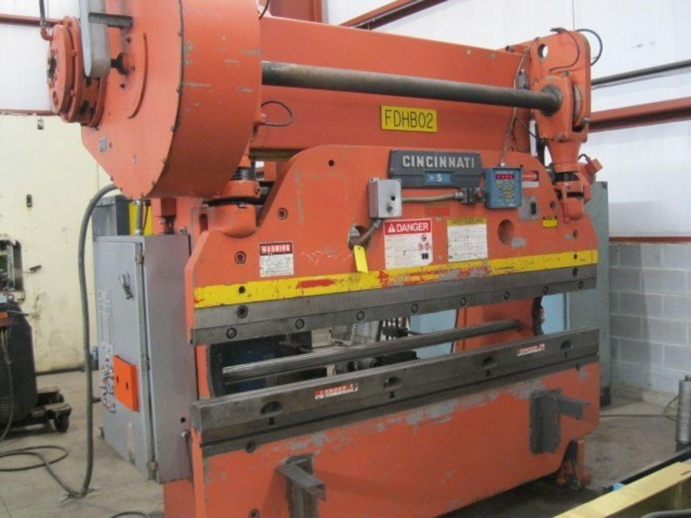 135 Ton x 8' CINCINNATI CNC Mechanical Press Brake, Model 5