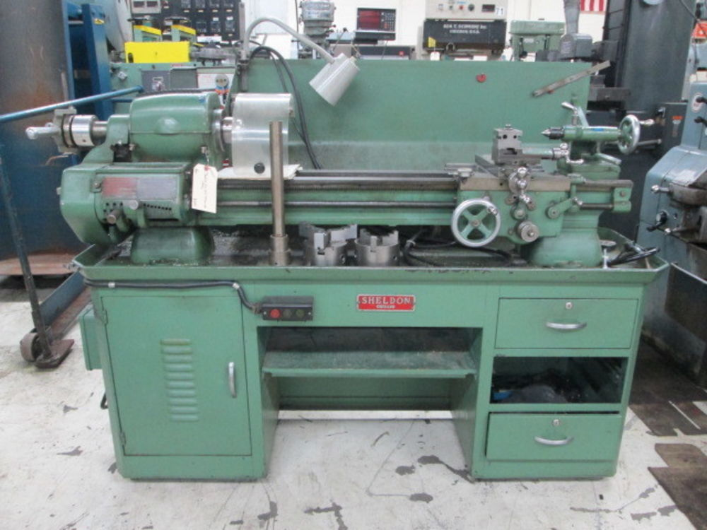 Used Lathes Engine Lathe For Sale Precision Lathes Tool Room >> Sheldon Model Exl56b 10 Swing 36 Between Centers Tool Room Engine