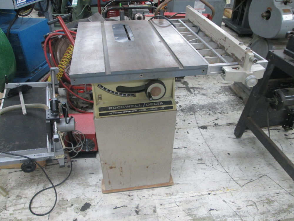 Rockwell Delta Model 34 335 10 115 Volt 1ph Motorized Table Saw W 45 Blade Tilt