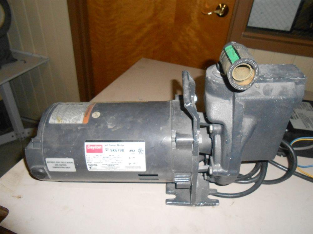 Dayton Jet Pump Motor 1 2hp